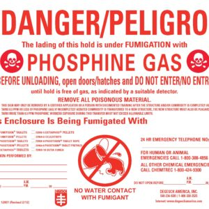 Vessel Fumigation Placard